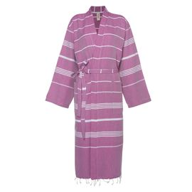 Bathrobe Leyla / Kimono Collar - Light Purple