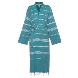 Bathrobe Leyla / Kimono Collar - Fanfare Green