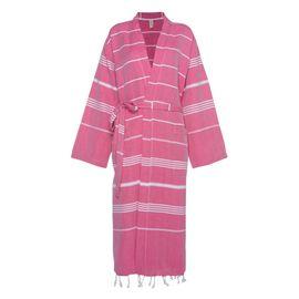 Bathrobe Leyla / Kimono Collar - Fucshia