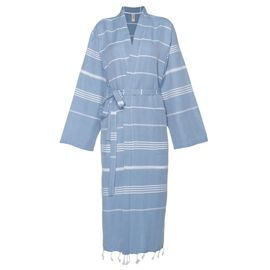 Bathrobe Leyla / Kimono Collar - Air Blue