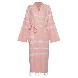 Bathrobe Leyla / Kimono Collar - Melon