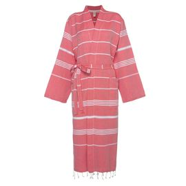 Bathrobe Leyla / Kimono Collar - Red