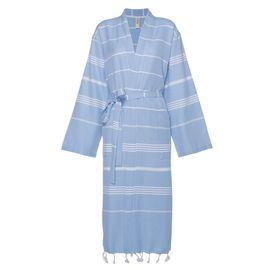 Bornoz Leyla / Kimono Yaka - Mavi