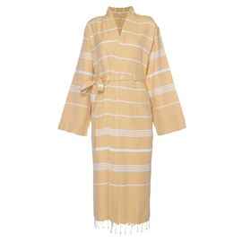 Bathrobe Leyla / Kimono Collar - Yellow