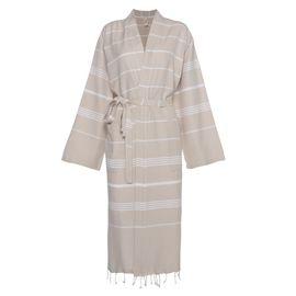 Bathrobe Leyla / Kimono Collar - Beige