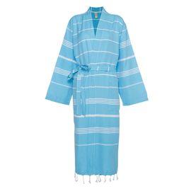 Bathrobe Leyla / Kimono Collar - Turquoise