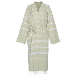 Bathrobe Leyla / Kimono Collar - Green