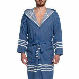 Bathrobe Sultan with hood - Royal Blue
