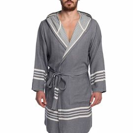 Bathrobe Sultan with hood - Dark Grey