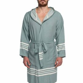 Bathrobe Sultan with hood - Almond Green
