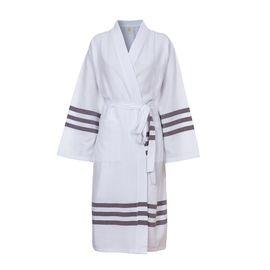 Bathrobe Bala Sultan kimono - Brown Stripes