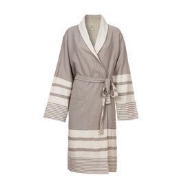 Bathrobe Tabiat with towel - Taupe