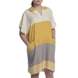 Adult Poncho - Twin Sultan / Yellow - Light Grey