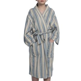 Bathrobe Karakız kimono collar - Air Blue