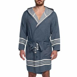 Bathrobe Sultan with hood - Navy