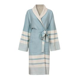 Bathrobe Tabiat with towel - Light Blue