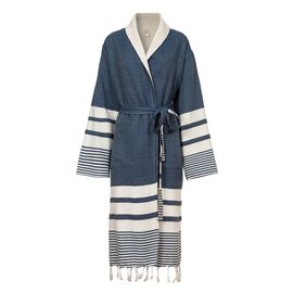 Bathrobe Tabiat with towel - Navy