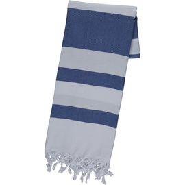 Peshtemal / Towel  Soho - White / Royal Blue