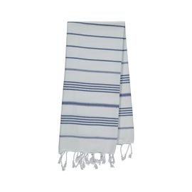 Peshkir Leyla - White / Royal Blue stripes