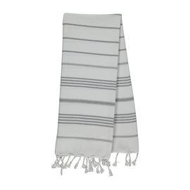 Peshkir Leyla - White / Dark Grey Stripes