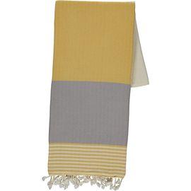 Peshtemal Twin Sultan - Yellow / Light Grey