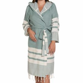 Bathrobe Tabiat with hood - Almond Green