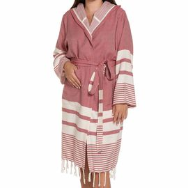 Bathrobe Tabiat with hood - Dusty Rose