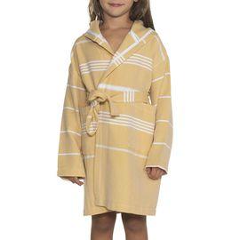 Bathrobe Kiddo Leyla with hood - Yellow