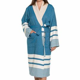 Bathrobe Tabiat with towel - Petrol Blue