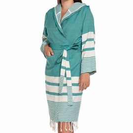 Bathrobe Tabiat with hood - Fanfare Green