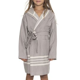 Bathrobe Kiddo with hood - Light Grey