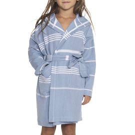 Bathrobe Kiddo Leyla with hood - Air Blue