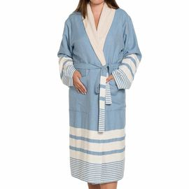 Bathrobe Tabiat with towel - Air Blue