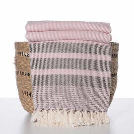 Throw Afra - Pink / Brown
