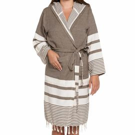 Bathrobe Tabiat with hood - Khaki