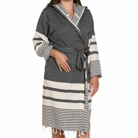 Bathrobe Tabiat with hood - Black