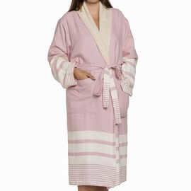 Bathrobe Tabiat with towel - Rose Pink
