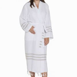 Bathrobe Bala Sultan - Taupe Stripes