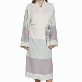 Bathrobe Twin Sultan Kimono - Mint / Light Grey