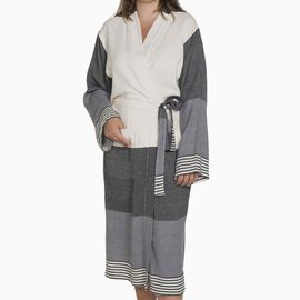 Bathrobe Twin Sultan Kimono - Black / Dark Grey