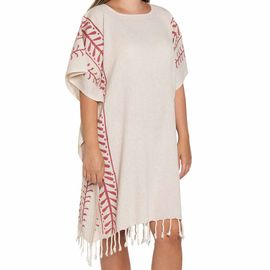 Tunic Hand Printed 15 / Bordeaux