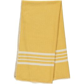 Peshtemal / Towel Sultan - Stitched / Yellow