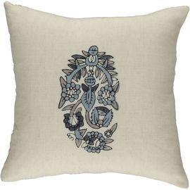 Cushion Cover Hamamiye / Colored Hand Print - Navy