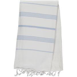 Peştemal / Havlulu Anı - Çift Yüzlü - Beyaz / Mavi