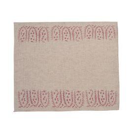 Service Mat/ Napkin - Hand Printed 01 / Rose Pink Print