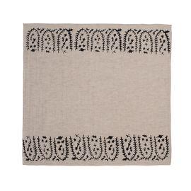 Service Mat/ Napkin - Hand Printed 01 / Black Print