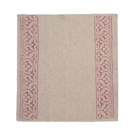 Service Mat/ Napkin - Hand Printed 03 / Rose Pink Print