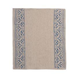 Service Mat/ Napkin - Hand Printed 03 / Blue Print
