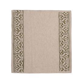 Service Mat/ Napkin - Hand Printed 03 / Greyish Print