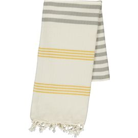 Peshtemal / Towel - Sultan FUN - Yellow / Taupe